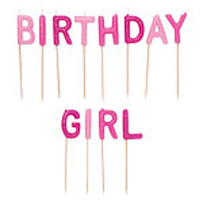 Pink  Birthday Girl Candles  New For Birthday Cake, Special Occasions