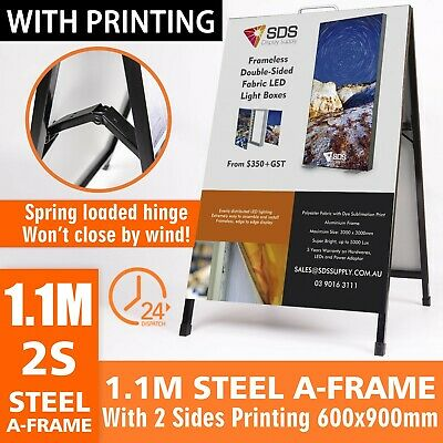 SFA017 Double Sided Steel A Frame A Board, with Printing 600x900mm