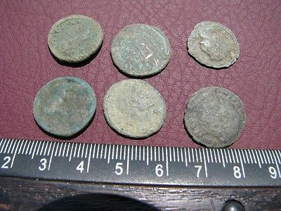 6 HQ Ancient Roman coins + 4 oz. Mint State Restoration Coin Cleaner MSR 074