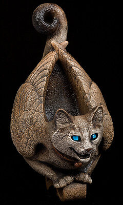 WINDSTONE EDITIONS WINGED CAT WALL SCONCE CANDLE LAMP FIGURINE, STATUE