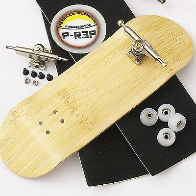 P-REP - 32MM n EXT Complete Wooden Fingerboard - Bamboo with CNC Lathed  Wheels