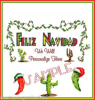 Christmas Personalized Feliz Navidad Hershey Candy Wrappers Favors Free Ship