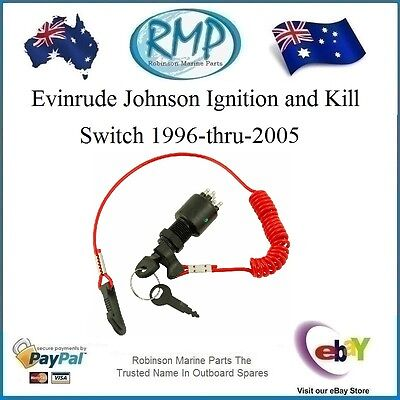 A Brand New Evinrude Johnson Ignition and Kill Switch 1996-thru-2005 # 5005801