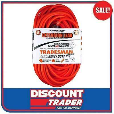 Ultracharge Tradesman Heavy Duty Electrical Extension Cable 30 Metre UR240/30T
