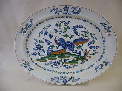 Booths Rockery & Pheasant Large Oval Platter 19 x 15 Inches