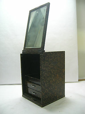 Tansu Small Mirror Make-up Box circa1950s Japanese Antique #101