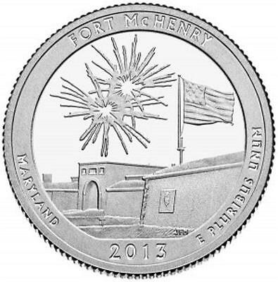 2013 Fort Mchenry National Monument- Quarter 3 Coins