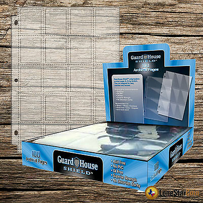 Guardhouse Shield Thumb Cut 30 Pocket 10 pack Archival Polypropylene Pages