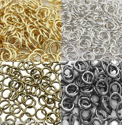100 x Quality Jewellery Making Jump Rings, GET 3 for 2, Silver Gold Black Bronze