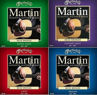 Martin Bronze Acoustic Guitar Strings 12 - 54 10 - 47 11 - 52 13 - 56