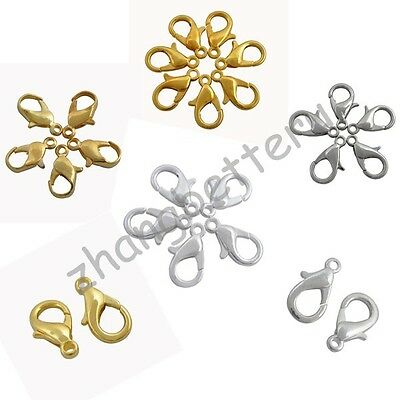 High Quality Gold & Silver Plated Alloy Fine Lobster Clasps Hooks 12 16 20 mm