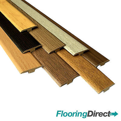 Oak Walnut Threshold Trim T Bar Door Strip Profile for laminate / wood flooring