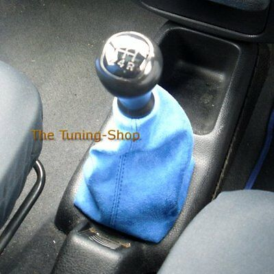 For Peugeot 106 Blue Suede Faux Gear Stick Gaiter Custom Gear Lever Cover