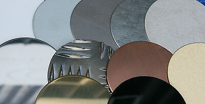 Qty 2 x 60 mm Ø Blank Discs, Sheet Metal Fly Press Signs Engraving MIG Welding