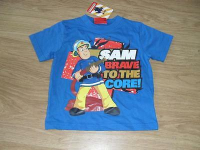 Fireman Sam baby boys blue short sleeved tshirt top 1-2 Years