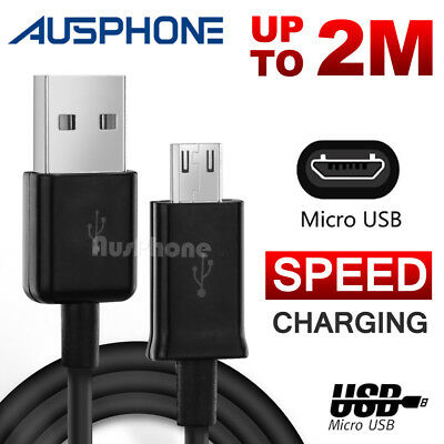 2M METER LONG Micro USB DATA CHARGER CABLE For Samsung Galaxy S7 S6 Edge S5