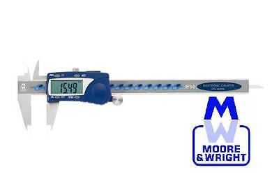 """Moore And Wright 0-6"""" / 0-150Mm Water Resistant Digitronic Caliper Mw110-15Wr"""