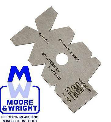 Moore And Wright Screw Cutting Gauge Mw200R Myford