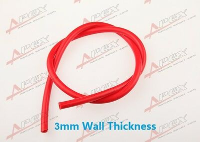 "4mm (5/32"") Silicone Vacuum Hose Red Pipe ""Sold By Foot"" High Performance"
