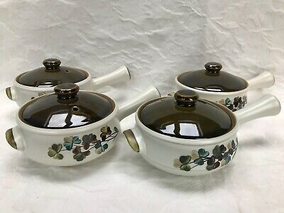 Denby Shamrock Individual Covered Soup Bowl Excellent Cond Several Available