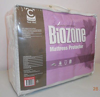 Naturally Comfortable Biozone cotton mattress protector - Fitted King size