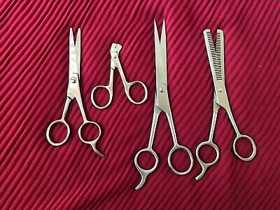 Professional Pet Dog Grooming Scissors Cutting &Thinning  Shears Set of 4
