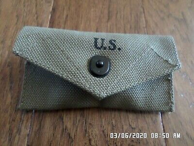 Wwii U.s Military First Aid Pouch M-1942 New Reproduction