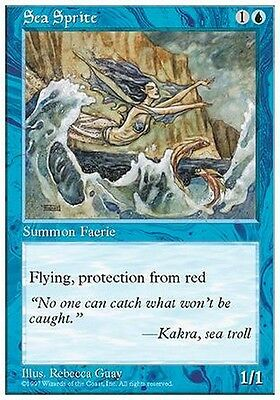 2x Spiritello Marino - Sea Sprite MTG MAGIC 5E Eng