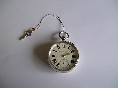 Rare Antique Joseph Harris Solid Sterling Silver Chester Pocket Watch (Vgc)