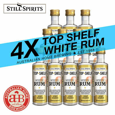 4x Still Spirits Top Shelf White Rum Essence home brew spirit making bacardi