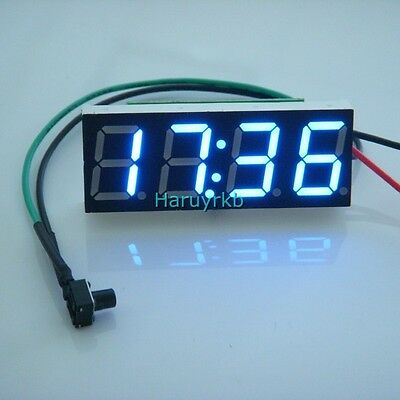 "0.40"" Digital LED Clock Watch Time for 12V 24V  Car Motorcycle bicycle E-bike B"