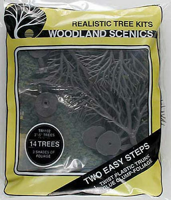 NEW Woodland Scenics Tree Kits 3x5  (14) TR1102