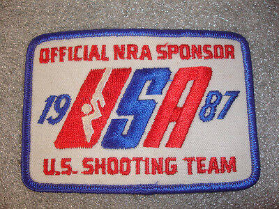 Collectible Official NRA Sponsor 1987 USA U.S. Shooting Team Patch