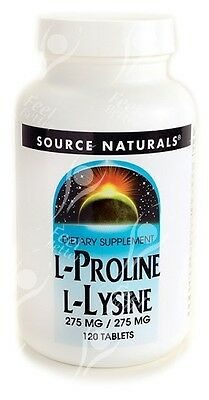 L-Proline & L-Lysine x120tabs with Hawthorn Berry, Grape Seed Extract, Vitamin C