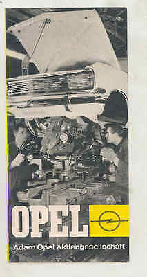 1966 Opel Factory Tour & Assembly Line Brochure Poster German wt5262
