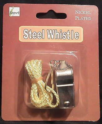 Nickel Plated Steel Whistle, Brand New!!!