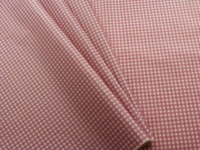 10 sheets red and cream gingham check tissue paper