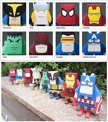 Momot Marvel Comics Heroes Avengers Character Paper Cut-outs Collectible Toys