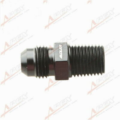 AN6 6AN To 1/4'' NPT Straight Adapter Pipe Fuel Oil Air Fitting Black