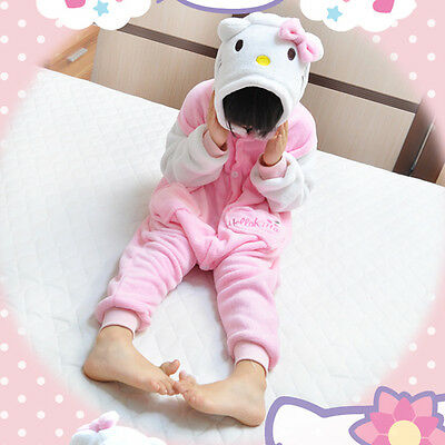Animal Kitty Onesie Party Cosplay Costume Pajama Kids Children Family Unisex