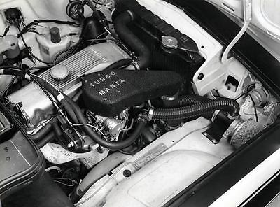 1974 Opel Manta Turbo Engine Factory Photo u2242-JXT5U9