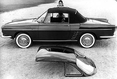1961 Renault Floride Convertible Factory Photo u2435-6OF3FR