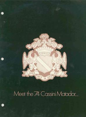 1974 AMC Cassini Matador Salesman's Brochure mx3499-QN46LM