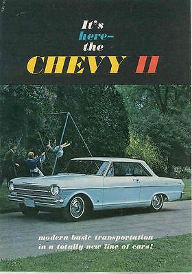 1962 Chevrolet Chevy II & Nova FIRST Brochure mx3713-UF4DXG
