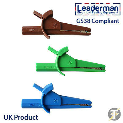 LDM111 1000 Volt/30Amp Fully Insulated GS38 Compliant Crocodile/ Alligator Clips