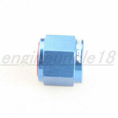 10AN -10AN AN10 Flare Cap Caps Block off Fitting Aluminum Red/Blue