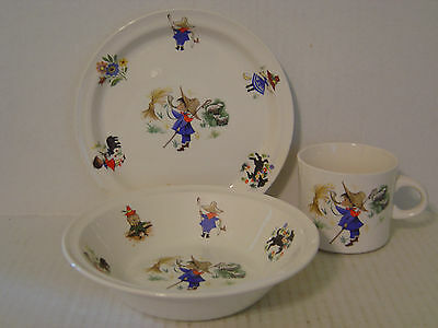 BRENDAN ERIN STONE IRELAND CHILDREN'S DISHES LITTLE BOY BLUE PLATE BOWL AND CUP