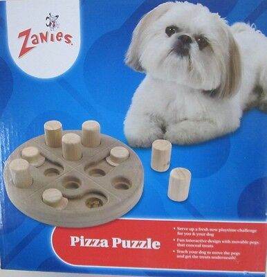Interactive Puzzle Toy for your Dog Puppy Wooden Pizza Puzzle Treat Finding Toy