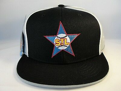 St Louis Stars Negro League Fitted Hat Cap 360 Rotating Bill Black Gray