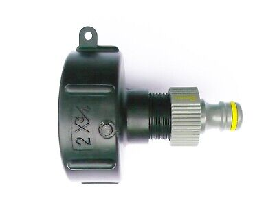 """IBC Adapter (S60X6 Coarse Thread) to 1/2"""" (13mm) Snap on Push Fit Hose connector"""